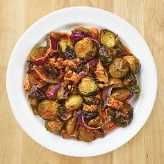 "6 minutes to skinny - Roasted Brussels Sprouts with Tomato Pesto Walnuts - Wegmans - Watch this Unusual Presentation for the Amazing to Skinny"" Secret of a California Working Mom Wegmans Recipe, Pesto Recipe, Vegetable Recipes, Vegetarian Recipes, Healthy Recipes, Healthy Food, Skinny Recipes, Free Recipes, Quinoa Dishes"