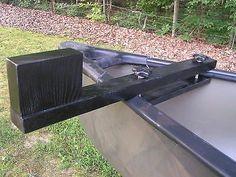 Canoe trolling motor mount - Black Finish - Doweled