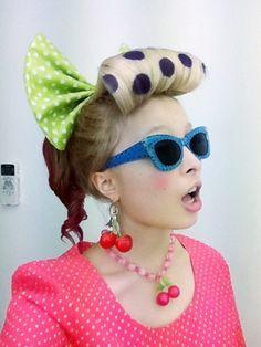 Kyary's polka dot bumper bangs                                                                                                                                                                                 More