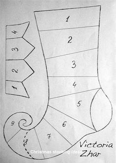 16 DIY Christmas stockings Full of Christmas gifts – Christmas Crafts Diy Christmas Stocking Pattern, Christmas Sewing, Christmas Quilting, Christmas Projects, Christmas Crafts, Christmas Decorations, Christmas Ornaments, Christmas Makes, Christmas Holidays