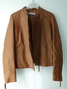 BLOUSON cuir souple marron camel Gérard Darel - T40 #Autresvestesblousons