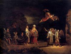 Leonaert Bramer (1596-1674): El viaje de los Reyes magos a Belén.