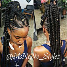 2018 African Braids Hairstyles : Beautiful Braids Styles for Ladies ...