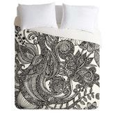 Found it at Wayfair - Valentina Ramos Bird in Flowers Black White Duvet Cover Collection