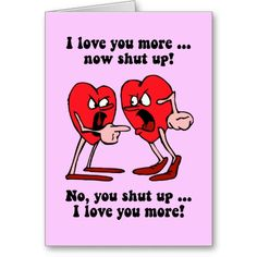 Cute and funny Valentines Day Greeting Card