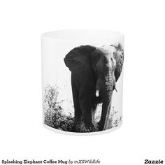 Splashing Elephant Coffee Mug African Safari, Custom Mugs, Wildlife Photography, Kitchenware, Tea Cups, Coffee Mugs, Elephant, Tapestry, Dining