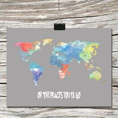 World map travel quote poster home is where the navy air force instant download world map travel quote by atimeandplacedesign 500 gumiabroncs Choice Image