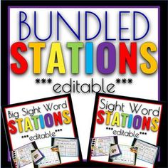 bundled stations - sight word bundle - kindergarten sight words