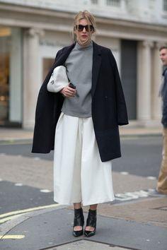 Tendência calças culottes inverno 2015.