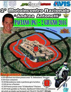 """Il 2 giugno Paciano ospiterà il 1° Motoincontro Nazionale """"Andrea Antonelli"""", in memoria del giovane pilota castiglionese scomparso all'età di 25 anni"""