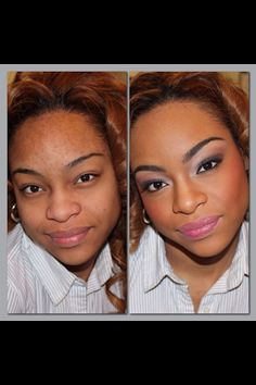 Before & After Makeup Application