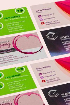 Heb dich von der Masse ab und verpasse deinen Visitenkarten das gewisse Etwas! Grafik Design, Chart, Business Card Design