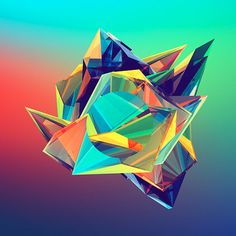 Geometric Illustration Challenge by Justin Maller Justin Maller, Origami, Polygon Art, Design Art, Graphic Design, Gaming Wallpapers, Design Competitions, Visual Communication, Illustrations And Posters