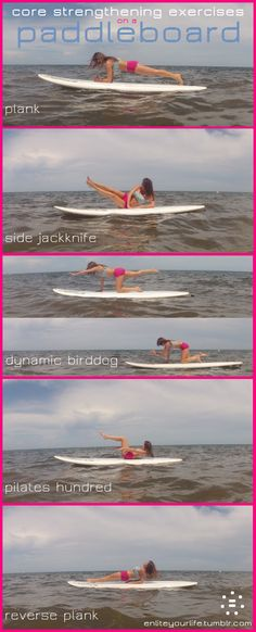 This looks amazing & i love paddle boarding! Bored of your mat?  Take your workout to a paddleboard instead!  I guarantee this will be a challenging workout no matter what fitness level you are at!     www.facebook.com/JanetteJaneroMiamiFitnessExpert