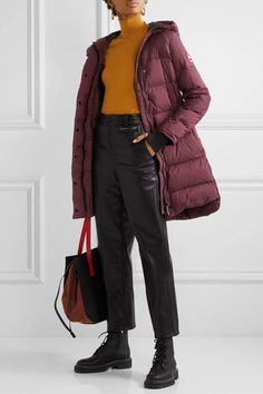 Plum Alliston hooded quilted shell down coat | Canada Goose | NET-A-PORTER Duvet, Down Coat, Who What Wear, Canada Goose, Hoods, Winter Outfits, Winter Fashion, Girl Fashion, Winter Jackets