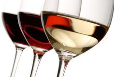Vinho branco, rose e tinto