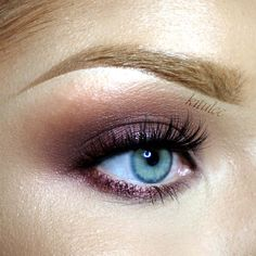 """Soft Plum Eyes"" By Kitulec. Find more ideas and inspiration at www.makeupgeek.com"