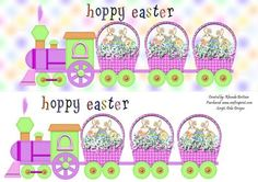 Hoppy Easter Train DL Card on Craftsuprint designed by Rhonda Brittain - A quick and easy card to make for Easter. - Now available for download!