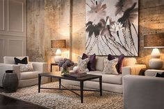 Exquisite living space with unique textures & artistic decors.