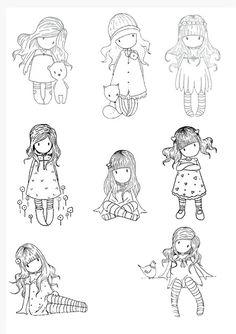 Desenhos lindos da Gorjuss para colorir, pintar ou imprimir! - Espaço Educar desenhos para colorir