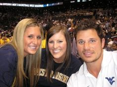 Nick Lachey sporting the Gold and Blue. Wvu Basketball, Wvu Football, Nick Lachey, West Virginia University, Take Me Home, Pretty Face, Letting Go, To My Daughter, Pride