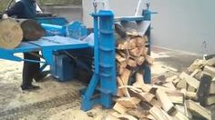 fast hydraulic log splitter - YouTube - GREAT MACHINE, now you need a conveyor belt to move the wood away from the discharge area