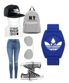 """Untitled #30"" by denitsaa on Polyvore featuring Topshop, NIKE, Converse, Acne Studios, Joshua's, adidas, women's clothing, women, female and woman"