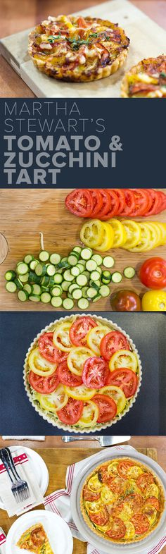 Martha Stewart's tomato and zucchini tart is a perfect use for summer produce! Fresh, healthy and delicious!
