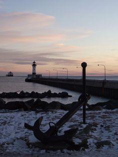 Sunrise in Canal Park, Duluth, MN Dec11