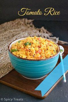 Spicy Treats: Tomato Rice / Quick Tomato Rice ~ Easy Lunch Box Recipe !
