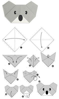 Wunderschöne Tiere aus Papier falten - Schablonen zum ausdrucken-dekoking-com-4