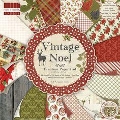 Vintage Noel First Edition Premium Paper Pad 64 Sheet | Hobbycraft