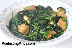 Sautéed Spinach with Tofu is a quick and simple spinach recipe that you can prepare for lunch or dinner. This light dish has a delectable Asian flavor that will surely fascinate your taste buds. It only took me less than 15 minutes to prepare this dish. I started by frying the tofu slices since it will take longer to cook compared with the spin