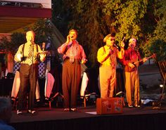 """The Perfect Gentlemen at the Yosemite Courtyard Cabaret, August 10, 2012. Performing their original hit, """"Room Service."""""""