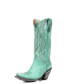 Women's Rio 13 Inch Sqaure Toe High Heel Boot - Turquoise