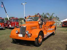 """(""""VINTAGE FIRE ENGINE: - WHITE ORANGE, SUPER POWER"""") ...."""