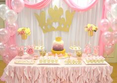 Princess First Birthday Party | CatchMyParty.com
