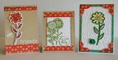 Created with Sizzix/Hero Arts Stamp & Die Cut Garden Flowers Set for Aussie Scrap Source