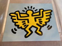 Keith Haring - Angel from Icons Portfolio For Sale at 1stDibs Screen Print Poster, Poster On, Keith Haring Art, Dancing Figures, Martin Lawrence, Paper Pop, Personal Space, Novelty Items, Public Art