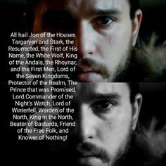 King Jon Snow                                                       …
