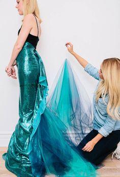 Resultat d'imatges de cómo hacer disfraz de cola de sirena