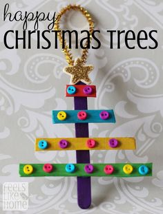These quick and easy DIY Christmas trees are so easy to make! What do preschoolers like to do more than anything? Stickers and glitter glue! Perfect combo for handmade Xmas tree ornaments and practically mess-free! Great for toddlers or preschoolers, older kids will enjoy them too. Cheap and beautiful ideas!