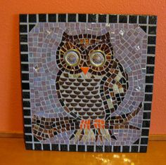 Mosaic Owl in the Twilight by dkmosaico