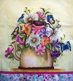 Pano de copa pintado a mão, confeccionado em tecido de sacaria de algodão estilotex, com opções de cores e temas a serem pintados.  Verificar a disponibilidade das estampas do tecido de acabamento. R$ 25,00