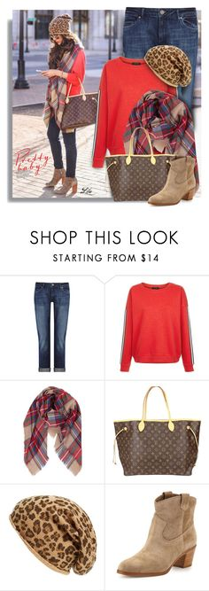 """""""Fall inspiration"""" by breathing-style ❤ liked on Polyvore featuring DL1961 Premium Denim, New Look, Humble Chic, Louis Vuitton, David & Young and Gianvito Rossi"""