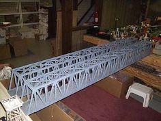 Truss bridge between layouts