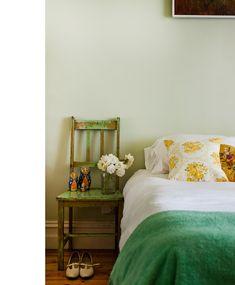Jessica Tremp's Melbourne home, via The Design Files. Love the vintage cushion.