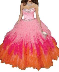 ba4143a5a8 Deng Women s Sweetheart Dimond Ball Gown Sweet 16 Quinceanera Dresses It is  for sweet dance