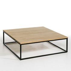 La table basse Aranza, le mariage parfait du bois clair et du métal pour un style contemporain.Caractéristiques :Plateau en chêne massif, vernis incolore.Piètement métal, époxy noir.Prête à monter, notice jointe.Dimensions :- L110 x H35 x P110 cm.Dimensions et poids du colis :- L125 x H18 x P125 cm, 38 kgLivraison chez vous :Votre table basse sera livrée chez vous sur rendez-vous, même à l'étage !Attention ! Veuillez vérifier que les ouvertures (portes, escaliers, ascenseurs) permettront le…