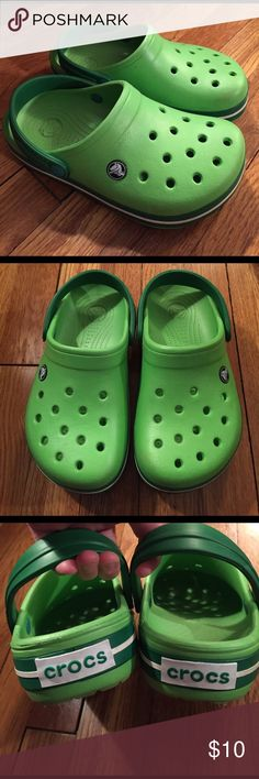 Green crocs Great condition - nice bright green CROCS Shoes Sneakers